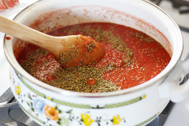 heirloom tomato spaghetti sauce