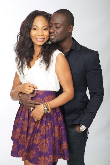 Chris Attoh and Leonora Okine in MTV Shuga Promo Shots
