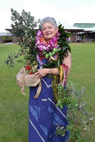 Ohia lehua gift to President Greenwood