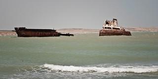 El Denisse Marie, un embarcación haitiana que tiene años frente a las cosas del cabo San Román