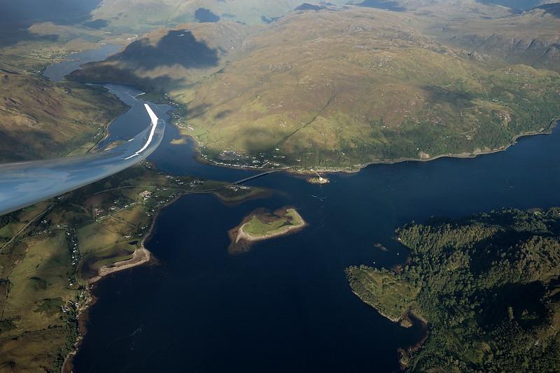 EB28 over Eilean Donan Castle, Loch Alsh, Scotland