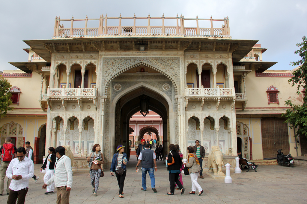 Entering into Jaipur's City Palace
