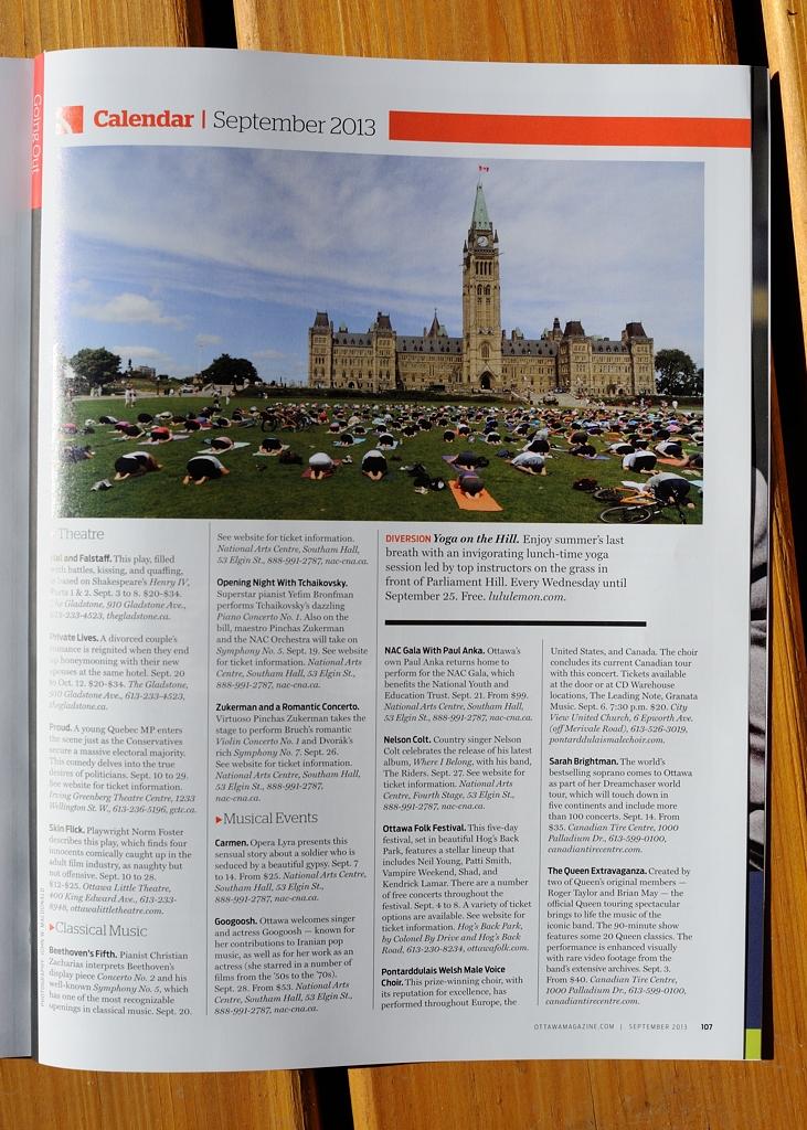 Tearsheet - Ottawa Magazine