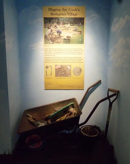 Digging for Cook's birthplace village - new displays at the Captain Cook Birthplace Museum