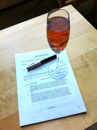 Signed with Veuve Clicquot Rose
