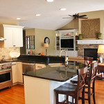 Kitchen and Great Room of Plan #360-The Larson - Customer Submitted Photos