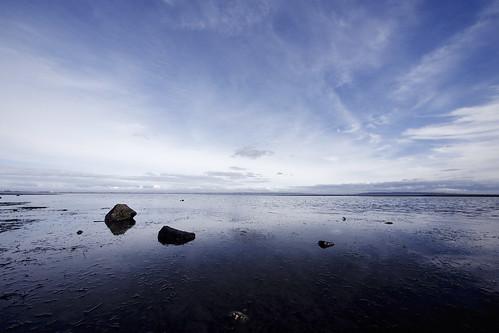 ocean blue sky canada water clouds high day bc cloudy britishcolumbia delta tsawwassen boundarybay thin wispy centennialbeach boundarybayregionalpark panasoniclumix714mmf40 olympusem5
