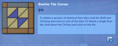 Bowtie Tile Corner