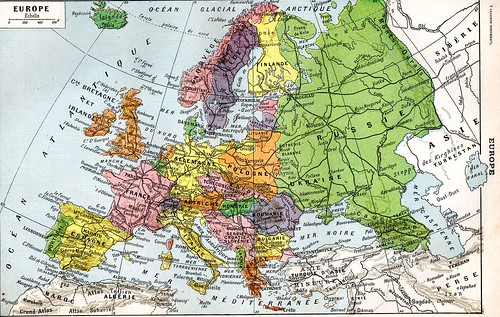 The 1920s-1922 Larousse Europe map