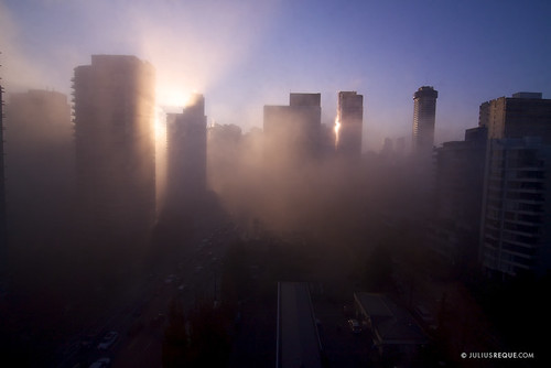 Today in Vancouver: Burning the Fog