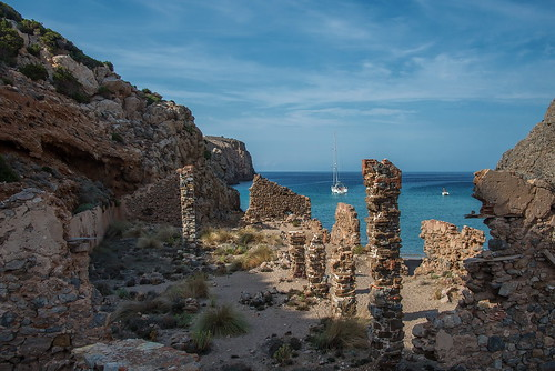beach ruins day sardinia spiaggia rovine villaggiominerario buggerru miningvillage caladomestica pwpartlycloudy