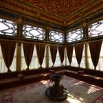 Interiores del palacio Topkapi con cojines etc