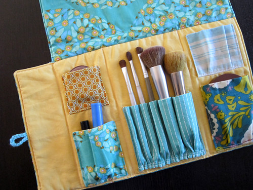 Patchwork Makeup Roll