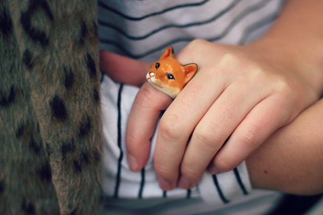 Love Hearts and Crosses fox ring