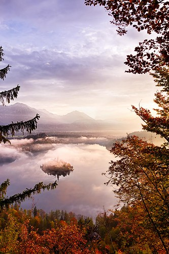 mist mountain alps sunrise landscape dawn slovenia drama lakebled julianalps canon6d