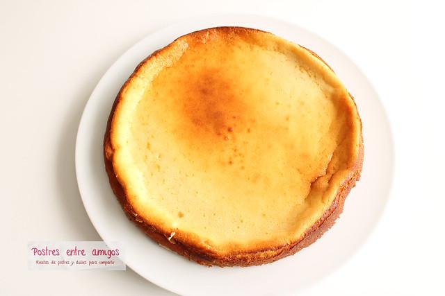 Tarta de queso con moras