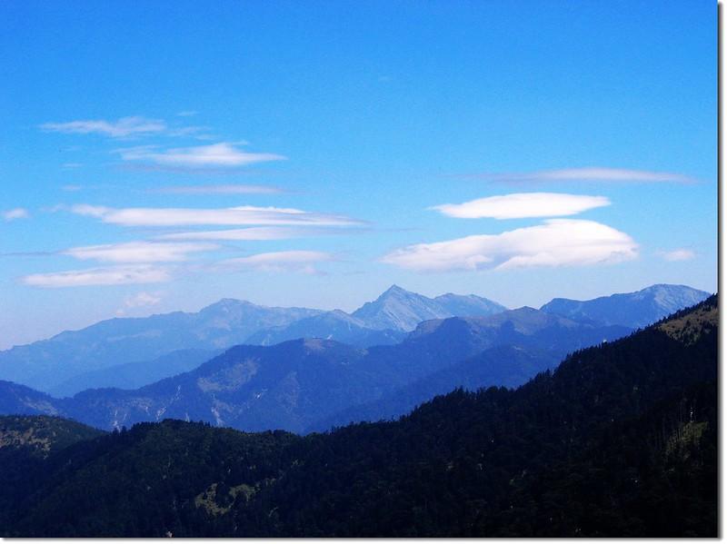 南湖大山、中央尖山(From 合歡西峰) 3