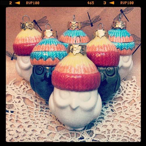 They're heeeeeere #ceramics #owls #jaynehat #gators #christmasornaments
