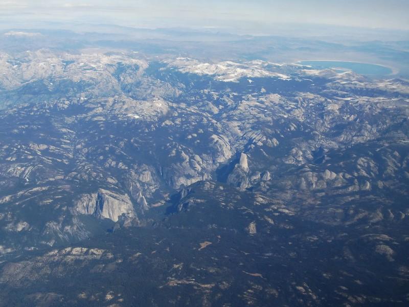 Yosemite National Park from Flight, California