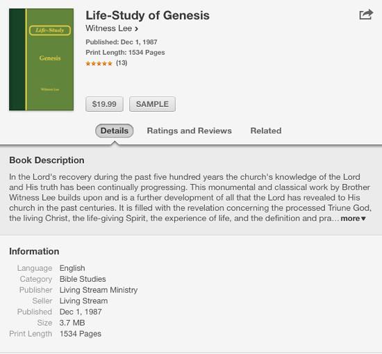 Life Study Genesis iBooks