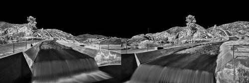 california longexposure bw white black detail water monochrome contrast digital silver landscape ir la blackwhite waterfall losangeles los nikon diptych long exposure angle angeles wide drinking aqueduct filter cascades infrared nik mountainside nikkor pour sanfernandovalley dwp schneider bustour clui 093 ladwp sylmar blacksky centerforlanduseinterpretation tapwater angeleno granadahills alienskin irfilter eyetwist efex bw093 losangelesaqueduct 1024mm d7000 capturenx2 silverefex eyetwistkevinballuff nikond7000 1024mmf3545g