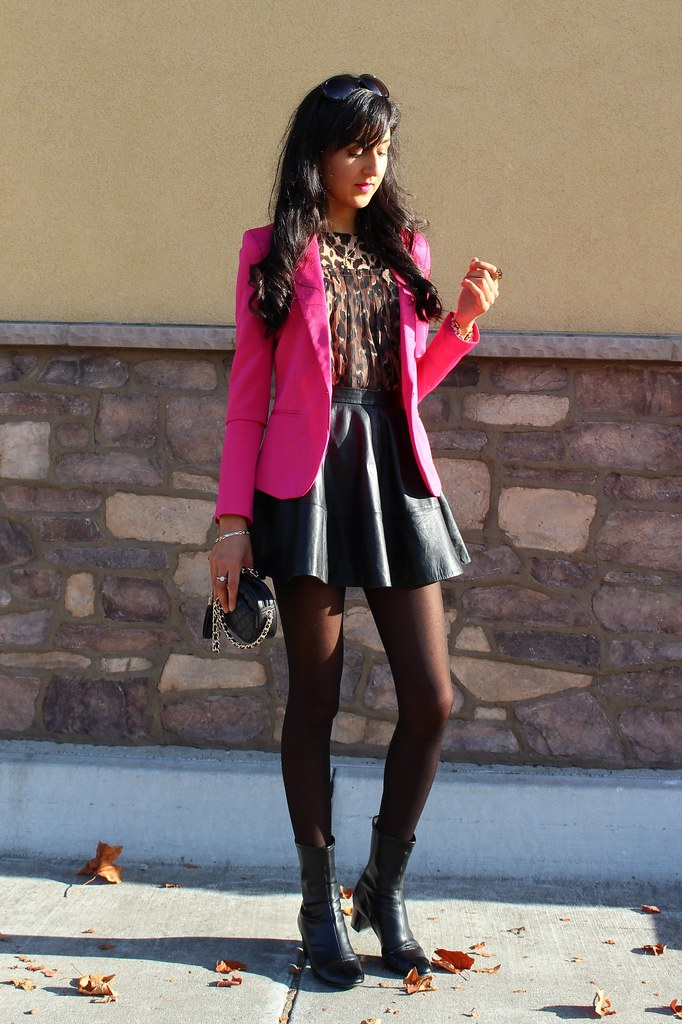 Pink Blazer and Leopard Print 5