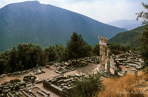 travel film 35mm ruins europe 1988 delphi slide greece olympics scannedslide fokida delfoi thessaliastereaellada