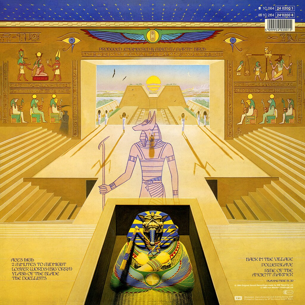 powerslave lp cover art