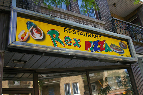 Fast food fred rex pizza for Restaurant le rex