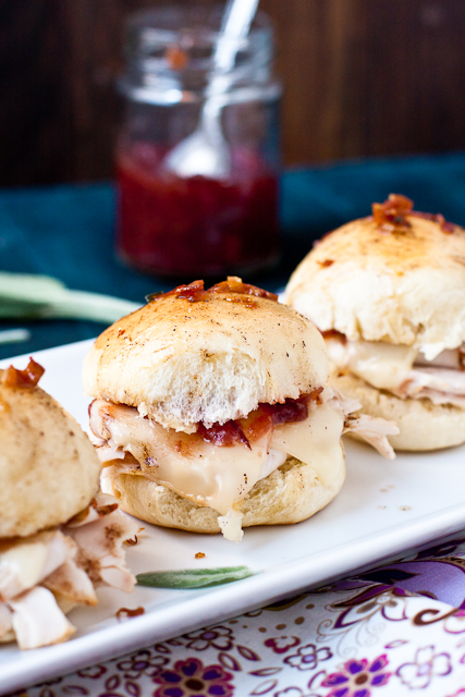 Baked Turkey Sliders With Cranberry Amp Bacon Chutney And Browned Sage Butter