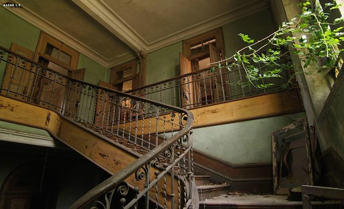 Stairs in decay - Manor Mansion