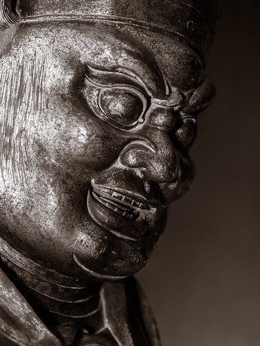 Gilt Bronze Head