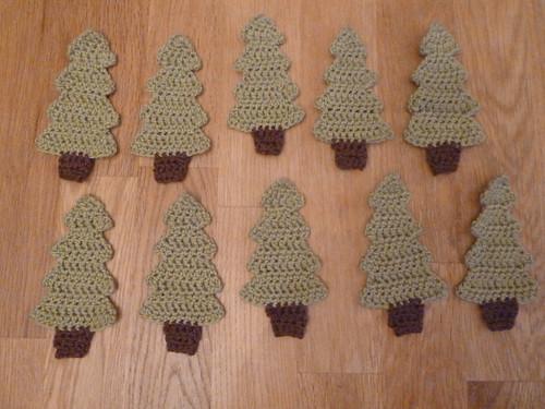 Crochet Christmas Tree Motif
