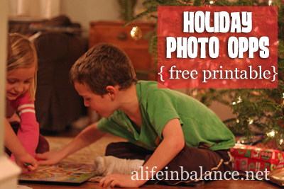 Holiday Photo Opps: Free Printable