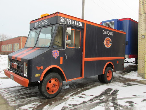 "Chicago Bears ""Shufflin Crew"" Chevrolet stepvan truck.  Morton Grove Illinois.  December 2013. by Eddie from Chicago"