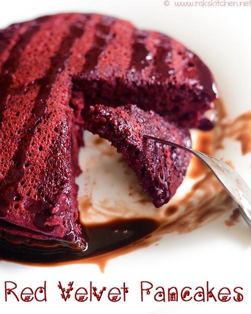 Red velvet pancakes recipe | Eggless Christmas recipes | Rak's Kitchen