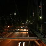 The road on Brooklyn Bridge