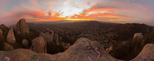 california sunset panorama mountain clouds view unitedstates santee