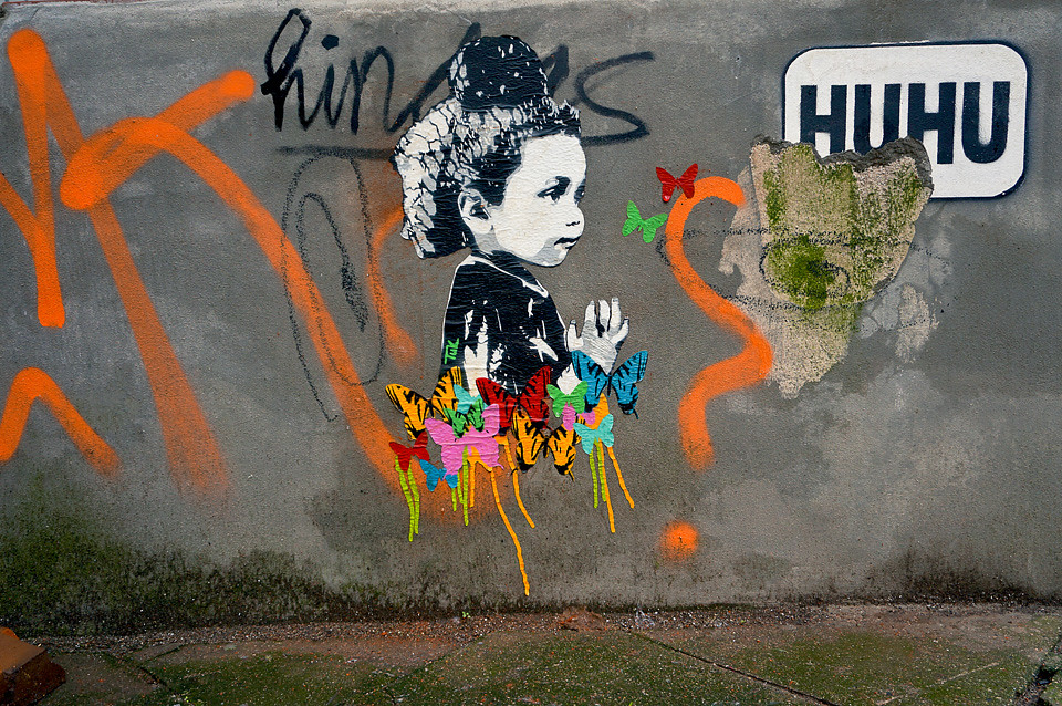 Farbwolke Streetart Hamburg