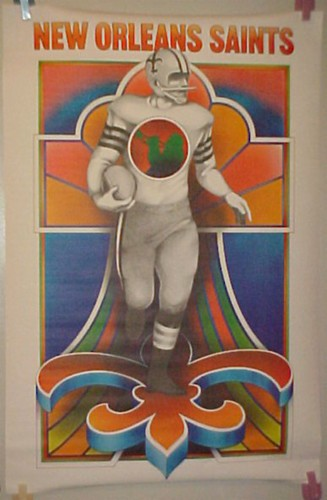 1968 Saints poster by David Willardson