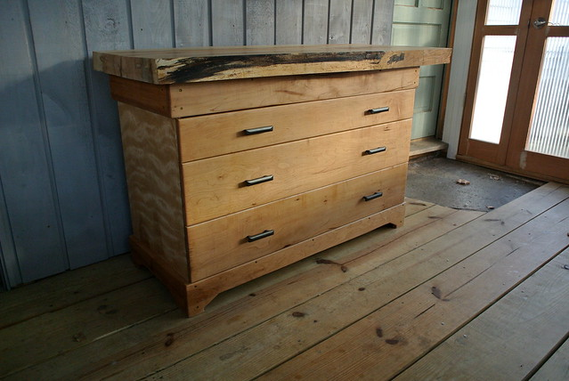 Maple chest with slabwood top