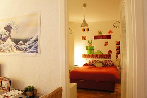 Dormitorio pixelado