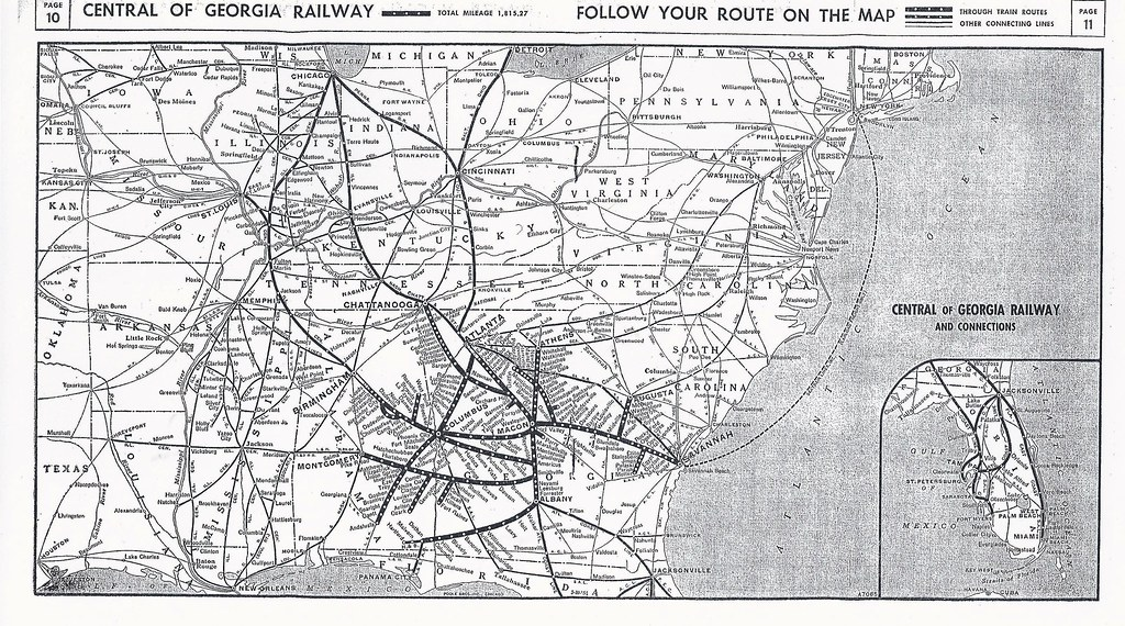 Central Of Georgia Railway Timetable System Map 1954 19 Flickr