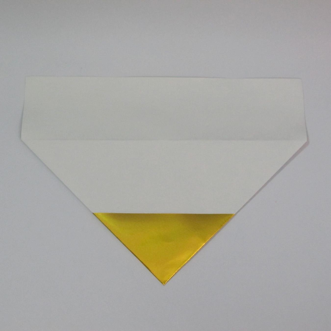 วิธีพับกระดาษเป็นรูปหัวใจติดปีก (Heart Wing Origami) 008