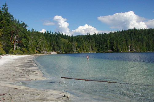 Hague Lake, partially in Mansons Landing Park, Cortes Island, Discovery Islands, British Columbia, Canada
