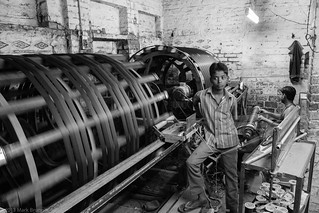 Child at work, India