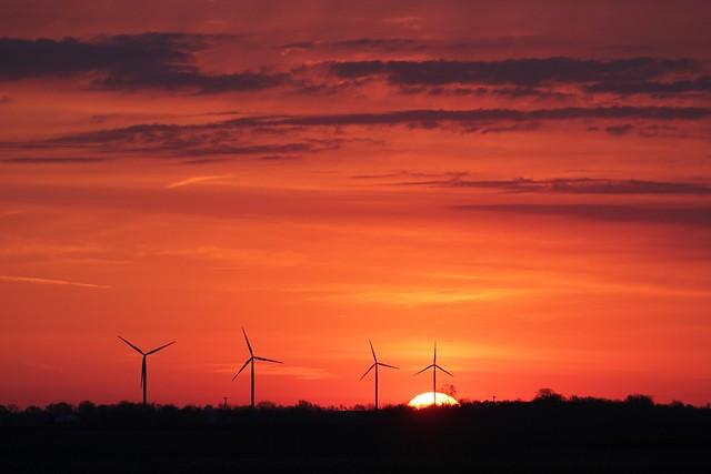 Sunrise in Fithian Illinois