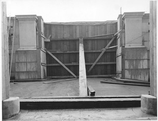 Photograph of a Flood Protection Barricade at the National Archives Building 7th Street Entrance, 03/18/1935