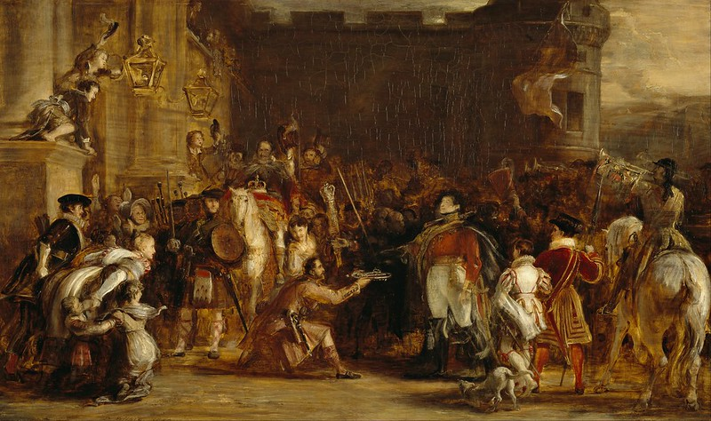 Sir David Wilkie - The Entrance of George IV at the Palace of Holyroodhouse (1828)