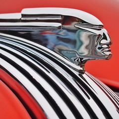 Classic Pontiac hood ornament.